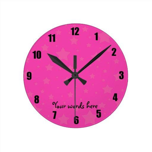 Rosa y estrellas del rosa reloj