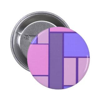 Rosa y extracto púrpura pin redondo de 2 pulgadas