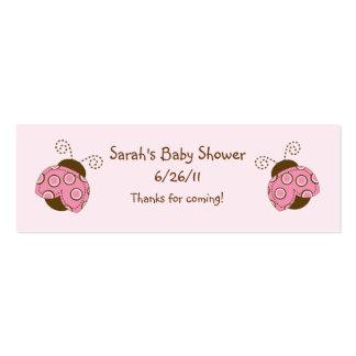 Rosa y favor/etiquetas de la fiesta de bienvenida tarjetas de visita mini