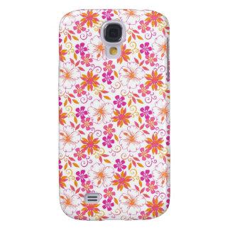 Rosa y flor tropical anaranjada Pern Funda Para Galaxy S4