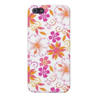 Rosa y flor tropical anaranjada Pern iPhone 5 Fundas