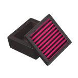Rosa y fondo de la raya negra cajas de regalo de calidad