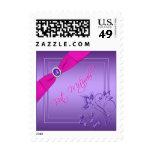Rosa y franqueo floral púrpura de Mitzvah del palo
