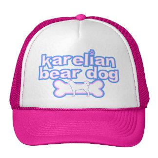 Rosa y gorra carelio azul del perro del oso