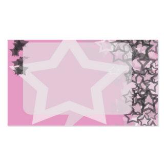 Rosa y gris adaptables de la tarjeta Folio-Card-2 Tarjetas De Visita