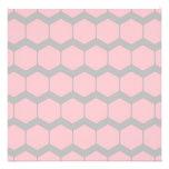 Rosa y gris, modelo de zigzag geométrico retro anuncio