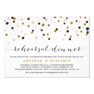 Rosa y invitación de la cena del ensayo del