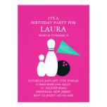 Rosa y invitación del cumpleaños del fiesta de la