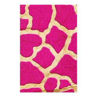 Rosa y jirafa del oro  papeleria