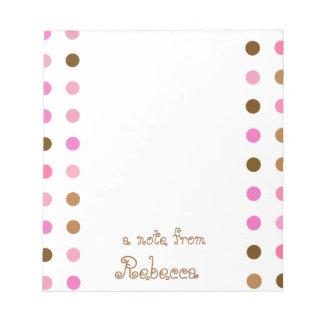 Rosa y libreta personalizada lunar de Brown Bloc