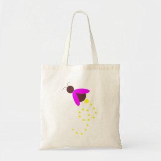Rosa y luciérnaga del chocolate bolsa tela barata