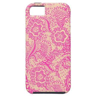 Rosa y luz Abstrac femenino beige iPhone 5 Cárcasas
