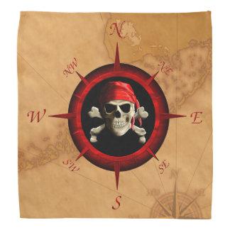 Rosa y mapa del compás del pirata bandanas