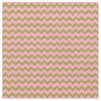 Rosa y materia textil de las rayas de Chevron del Telas