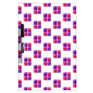 Rosa y modelo brillante púrpura de la caja de rega tableros blancos