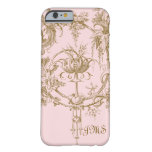 Rosa y modelo clásicos de Brown Toile Funda De iPhone 6 Barely There