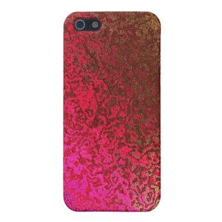 Rosa y modelo del oro iPhone 5 cobertura