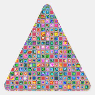 Rosa y modelo texturizado multicolor de las tejas etiquetas