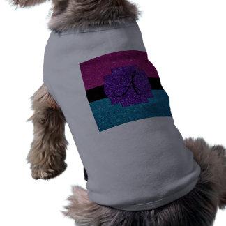 Rosa y monograma del brillo de la turquesa ropa de mascota