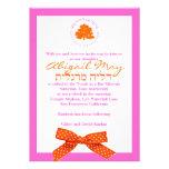 Rosa y naranja del arco del árbol de la invitación