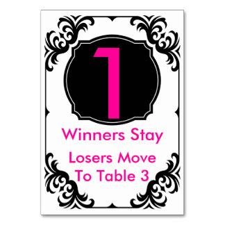 Rosa y negro - #1 de la tarjeta de la tabla de