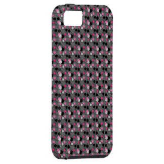 Rosa y negro florales iPhone SE/5/5s case