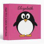rosa y negro lindos del pingüino del dibujo