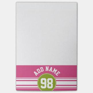 Rosa y número conocido de encargo del jersey de post-it® notas