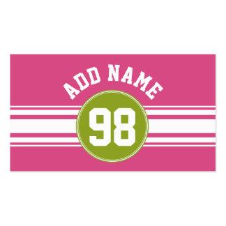 Rosa y número conocido de encargo del jersey de tarjetas de visita