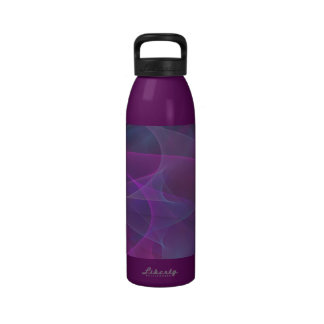Rosa y onda sedosa púrpura botella de agua