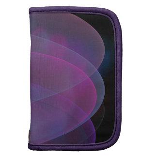 Rosa y onda sedosa púrpura planificador