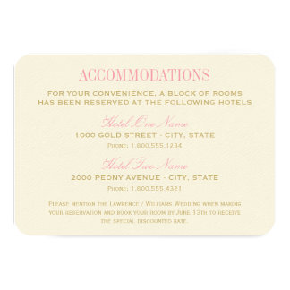 Rosa y oro de la tarjeta el | del alojamiento del invitación 8,9 x 12,7 cm