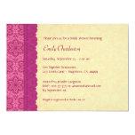 Rosa y oro florales y ducha nupcial V03C del Invitacion Personalizada