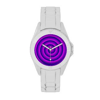 Rosa y persona hipnotizada de la marina de guerra reloj de mano