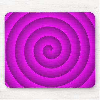 Rosa y persona hipnotizada púrpura alfombrillas de ratones