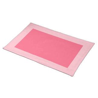Rosa y Placemat rosado brillante Mantel Individual