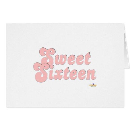 Rosa y plata del dulce dieciséis tarjeta de felicitación