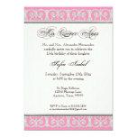 Rosa y plata, diamantes y cordón, membrillo Anos Invitacion Personalizada