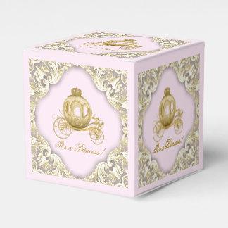 Rosa y princesa del oro cajas para regalos de fiestas
