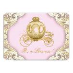 Rosa y princesa real fiesta de bienvenida al bebé invitación 12,7 x 17,8 cm