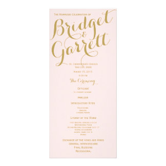 Rosa y programa del boda del oro tarjeta publicitaria