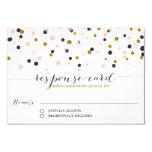 Rosa y puntos del confeti del oro que casan la anuncios personalizados