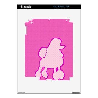 Rosa y púrpura de moda modernos del caniche calcomanías para el iPad 2