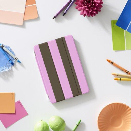 Rosa y rayas anchas marrones cover de iPad mini