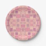 Rosa y revoltijo geométrico de la crema