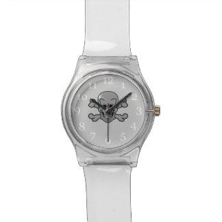 Rosa y Rogelio alegre gris Reloj