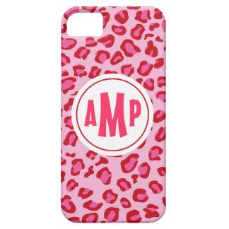 Rosa y rojo del caso del iPhone del leopardo del m iPhone 5 Case-Mate Cárcasa
