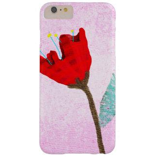 Rosa y rojo funda de iPhone 6 plus barely there