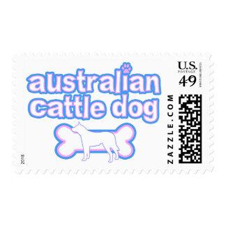 Rosa y sellos australianos azules del perro del ga