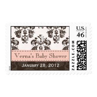 Rosa y sellos del damasco de Brown
